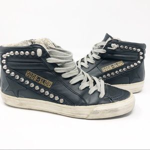 Golden goose studded distressed  shoes